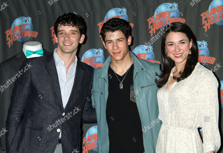 Michael Urie, Nick Jonas and Stephanie Rothenberg