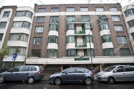 A run down block of flats on Myrdle Street, Whitechapel, East London, the home of Trenton Oldfield