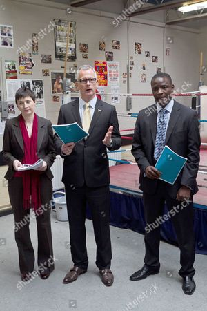 Editorial image of Liberal Democrat Mayoral Candidate Brian Paddick launches his manifesto at the Pedro Youth Club in Homerton, London, Britain - 10 Apr 2012