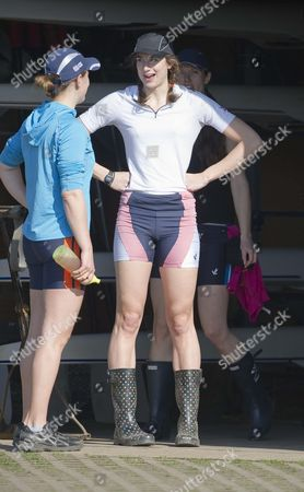 Natalie Redgrave (r) The Daughter Of Sir Steven The Multi Olympic Rower. She Has Been Named To Row In The Womens Oxford Vs Cambridge Boat Race Held A Day After The Mens At Henley On Thames 27th March 2011. Training At The Upper Thames Rowing Club Henley On Thames.