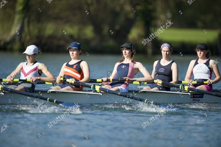 Natalie Redgrave (centre) The Daughter Of Sir Steven The Multi Olympic Rower. She Has Been Named To Row In The Womens Oxford Vs Cambridge Boat Race Held A Day After The Mens At Henley On Thames 27th March 2011. Training At The Upper Thames Rowing Club Henley On Thames.