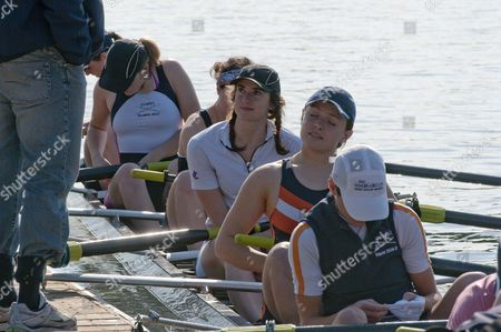 Editorial image of Natalie Redgrave (4th From Back Of Boat) The Daughter Of Sir Steven The Multi Olympic Rower. She Has Been Named To Row In The Womens Oxford Vs Cambridge Boat Race Held A Day After The Mens At Henley On Thames 27th March 2011. Training At The Upper Th