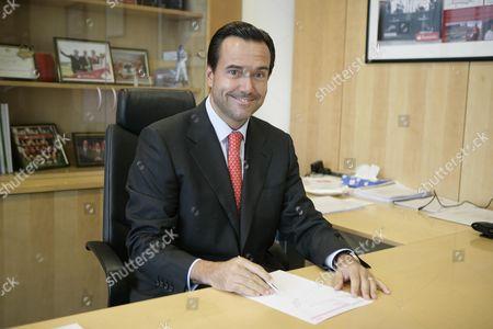 Antonio Horta-osorio Ceo Of Abbey Bank In His Office.