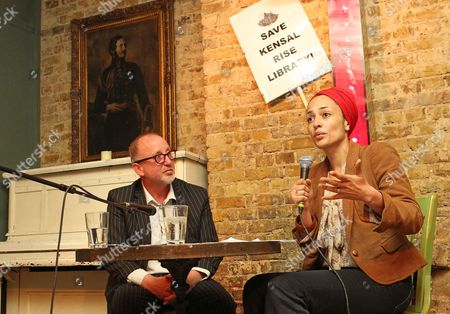 Editorial picture of Writer Zadie Smith In Conversation With Tim Lott As She Lends Her Support To Keep The Kensal Rise Library From Closure. Picture By: Nigel Howard Email: Nigelhowardmediaatgmail.com