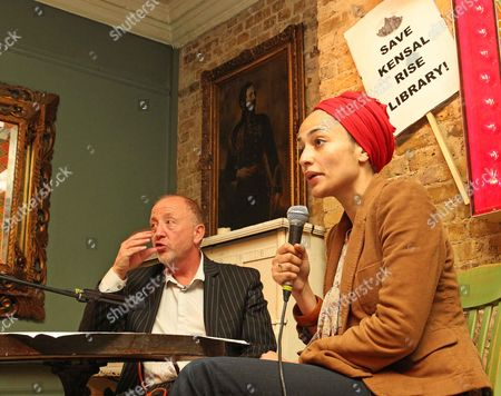 Writer Zadie Smith In Conversation With Tim Lott As She Lends Her Support To Keep The Kensal Rise Library From Closure. Picture By: Nigel Howard Email: Nigelhowardmediaatgmail.com
