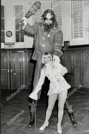Peter Barbour As The Giant With Aimi Macdonald As Jack During Rehearsal For Pantomime 'jack And The Beanstalk' - 1975