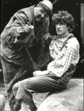 Nick Stringer (l) And Michael Mueller In Scene From Play 'great Expectations'.