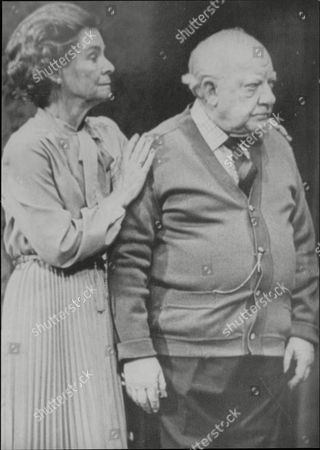 Stock Picture of Actor Arthur Lowe (died 4/82) And Wife Joan Cooper In Play 'home At Seven'.