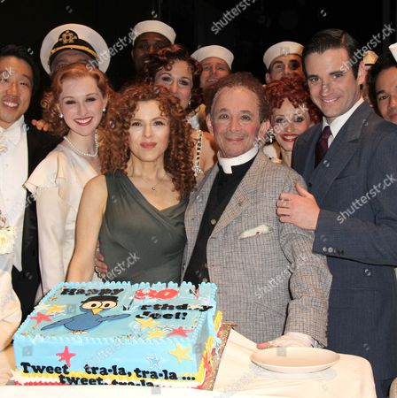 Erin Mackey, Bernadette Peters, Joel Grey and Colin Donnell