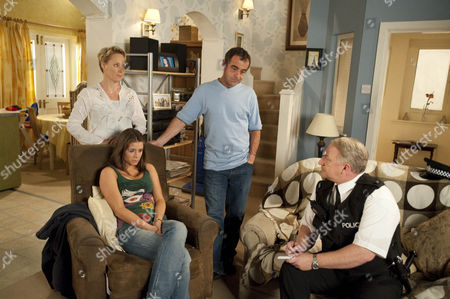 Sophie Webster [brooke vincent] is on Adam Copeland as the police arrive. Kevin Webster [Michael Le Vell] rants about the bogus charity ripping him off and insists Sophie explain what happened. But seeing how scared his little girl is he eventually lies saying he transferred the cash. Sally Webster [Sally Dynevor] insists he's done the right thing but will it affect his case with the bank?