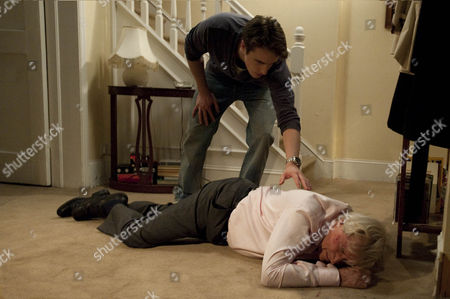 Ken Barlow [William Roache] becomes uneasy and when James [James Roache] goes to call a cab he searches his bag. Finding a letter approving a 50K loan against the house Ken confronts James. Cornered how will James react, will he makes his escape?