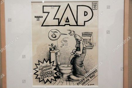 Editorial picture of Robert Crumb exhibition at Museum of Modern Art, Paris, France - 12 Apr 2012