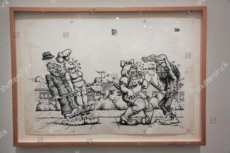 Editorial image of Robert Crumb exhibition at Museum of Modern Art, Paris, France - 12 Apr 2012