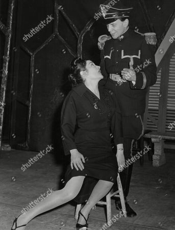 Theatrical Play 'the Balcony' The Chief Of Police Played By Alec Mango And The Brothel Owner Irma Played By Silina Vaz Dias