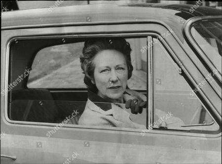 Mrs Beeching (baroness Beeching) Wife Of (baron) Richard Beeching The Former Chairman Of British Rail In Her Car At East Grinsted