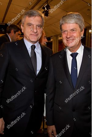 Sidney Toledano CEO of Christian Dior and Yves Carcelle of  CEO Louis Vuitton