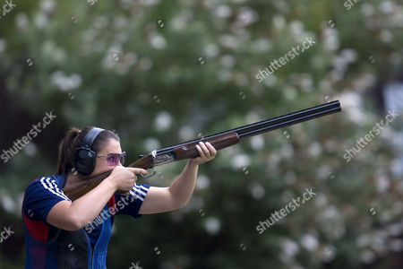 Great Britain's Olympic Clay Pigeon Shooter, Charlotte Kerwood.