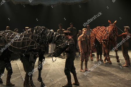Editorial photo of 'War Horse' play One Year Anniversary performance, New York, America - 14 Apr 2011
