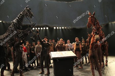Editorial picture of 'War Horse' play One Year Anniversary performance, New York, America - 14 Apr 2011
