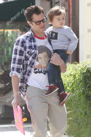 Johnny Knoxville with son Rocko Akira Clapp