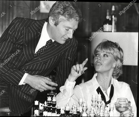 Timothy Carlton And Britt Ekland Rehearsing For The Stage Play 'mate'