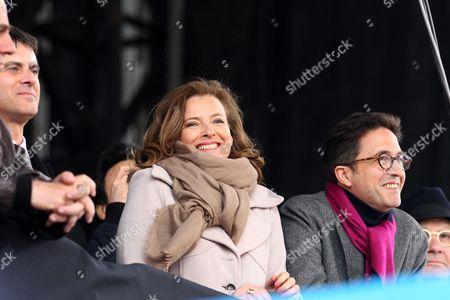 Manuel Valls, Valerie Trierweiler and Aquilino Morelle