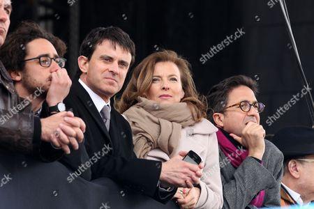 Thomas Hollande, Manuel Valls, Valerie Trierweiler and Aquilino Morelle