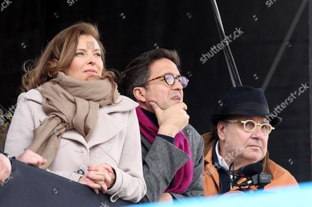 Valerie Trierweiler, Aquilino Morelle and Serge Moati