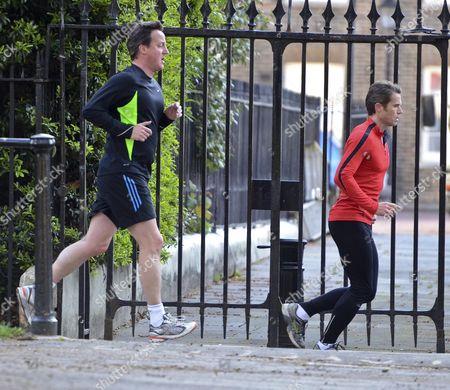 David Cameron with his trainer Matt Roberts