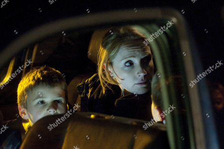 Stock Picture of Claire Peacock [Julia Haworth] and the kids leave for France