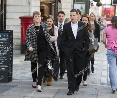 The Family Of Ian Tomlinson (wife Julia Left) Arrive At The Inquest 70 Fleet Street London. Freddy Patel Is Giving Evidence At The Inquest Today. Patel Undertook The First Autopsy On Tomlinson.