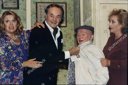 Lynda Baron Henry Mcgee Charlie Drake And Sylvia Syms Actors In Play Funny Money At The Playhouse 1995.