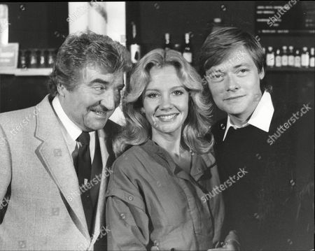 Peter Adamson Hayley Mills And Simon Ward Actors Publicising Play Dial M For Murder 1983.