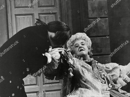 Margaret Rutherford Actress In Costume On Stage During Play The Clandestine Marriage 1966.