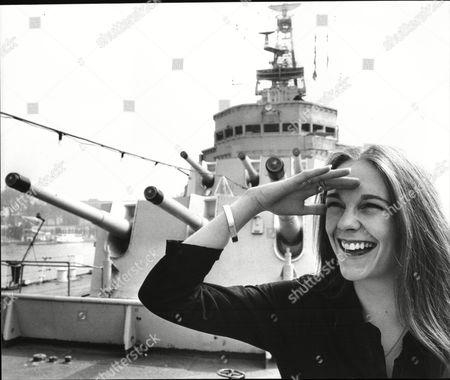 Sarah Berger Actress By Naval Ship 1981.