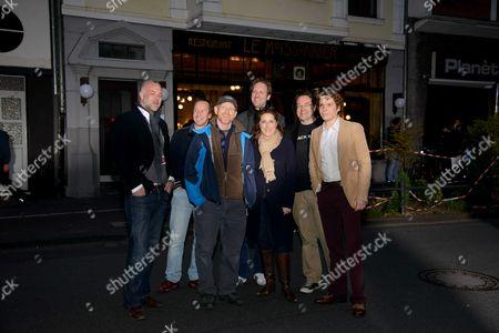 Daniel Hetzer, Andrew Eaton, Director Ron Howard, Kay Niessen, Petra Muller, Jens Meurer and Daniel Bruhl