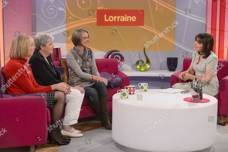 Stock Picture of Carol Hoy, Pat Payne, Alison Rushgrove with Lorraine Kelly