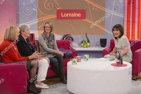 Stock Photo of Carol Hoy, Pat Payne, Alison Rushgrove with Lorraine Kelly