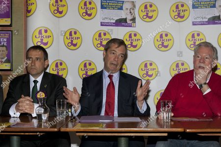 UKIP London Mayoral candidate Lawrence Webb, UKIP Leader Nigel Farage and Richard Bridgeman