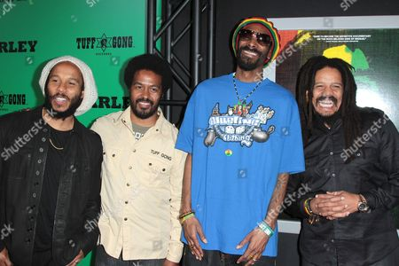 Stock Picture of Ziggy Marley, Robbie Marley, Snoop Dogg and Rohan Marley