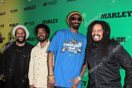 Ziggy Marley, Robbie Marley, Snoop Dogg and Rohan Marley