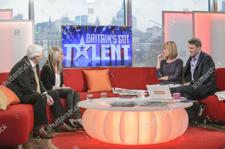 Stock Photo of John Brown and Paige Turley with Kate Garraway and Dan Lobb