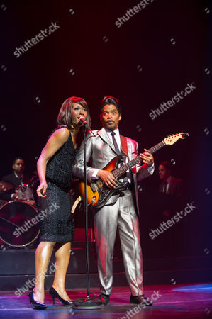 Emi Wokama (as Tina Turner) and Chris Tummings (as Ike Turner)