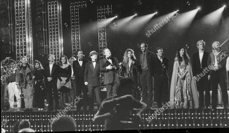 Line-up Of Stars At The Princes Trust Gala Including Art Garfunkel Elton John Eamonn Andrews Robin Williams And Sarah Brightman.