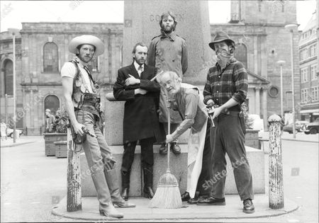 Stock Photo of Photocall For Theatrical Play 'sundance'. L-r: Ian Ruskin Benny Y Clive Duncan Robert Varley And Nigel Harrison.