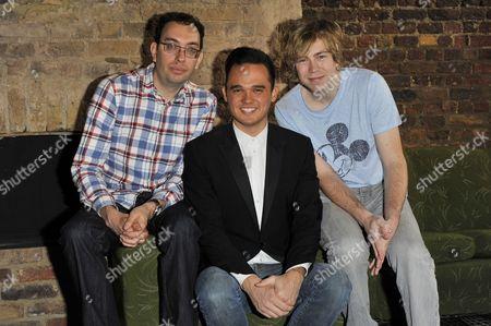 Elliot Davis, Gareth Gates and James Bourne