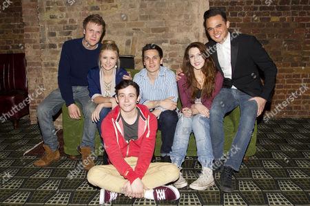 Richard Lowe (Lucas), Eliza Hope Bennett (Holly), Lil' Chris (Francis), Aaron Sidwell (Michael Dork), Charlotte Harwood (Leia) and Gareth Gates (Eddie)