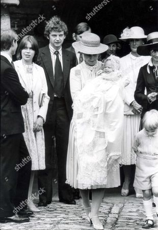 Lady Rose Victoria Brigitte Louise Windsor Lady Rose Windsor Was Christened Today At Barnwell Parish Church Near Peterborough She Is The Daughter Of The Duke And Duchess Of Gloucester. Seen Here With Her Brother Alexander Windsor The Earl Of Ulster. Pkt 1186 - 39045