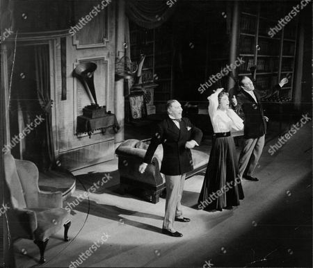 Stock Photo of Theatrical Musical My Fair Lady Rehearsal At Dury Lane Theatre Starring Rex Harrison Julie Andrews And Robert Coote