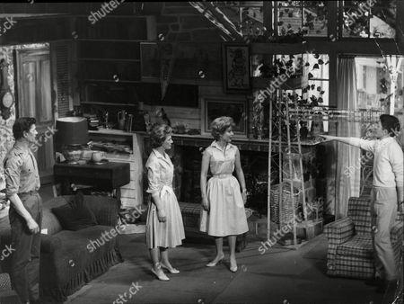 Theatrical Play 'will You Walk A Little Faster' - (l-r) Michael Gwynn Diana Churchill Jennifer Daniel And Stuart Huchison.